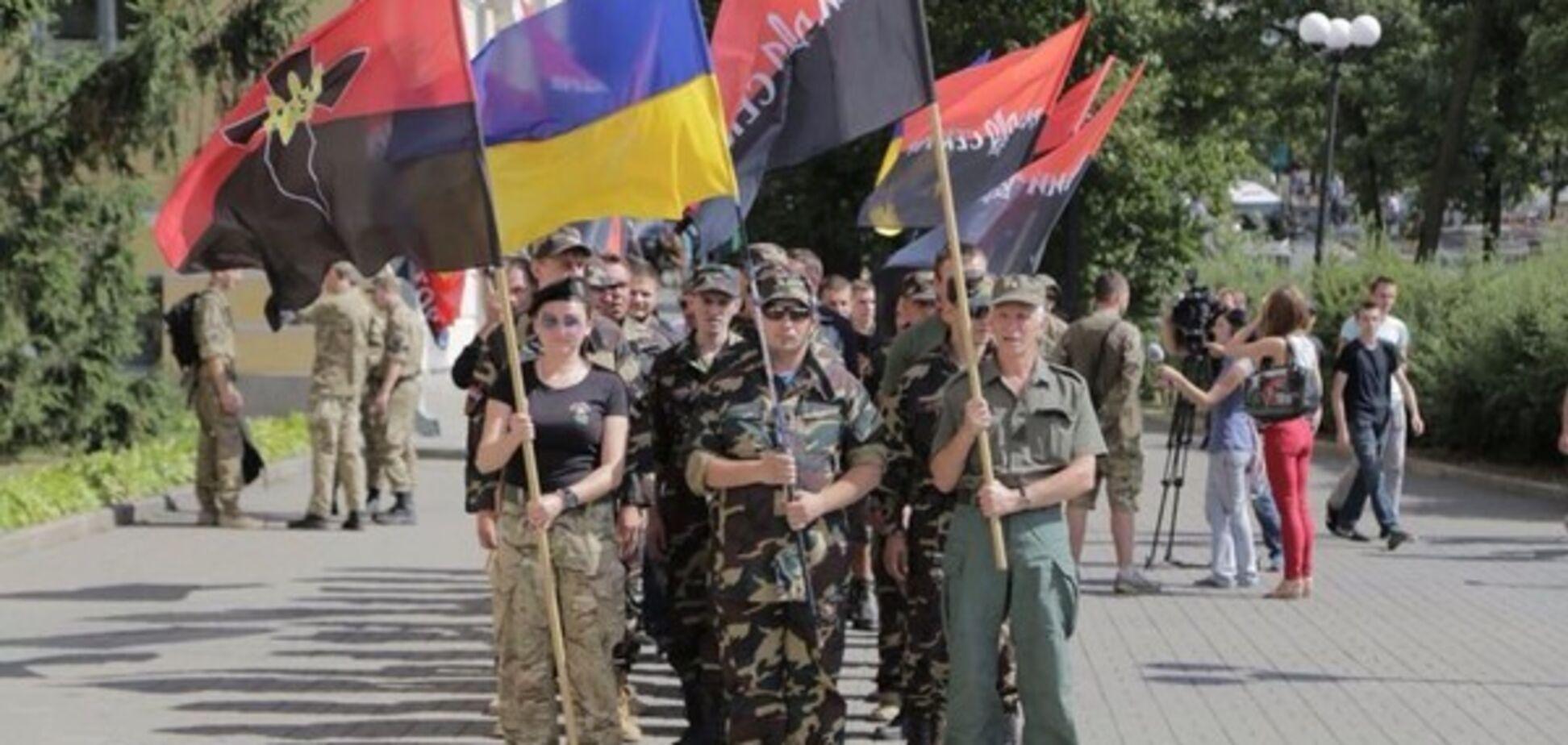 ''Распнут в трусиках'': в России у всех на виду нашли ''Правый сектор''