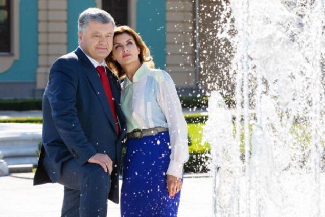 День рождения Порошенко: президент и его супруга обменялись нежностями