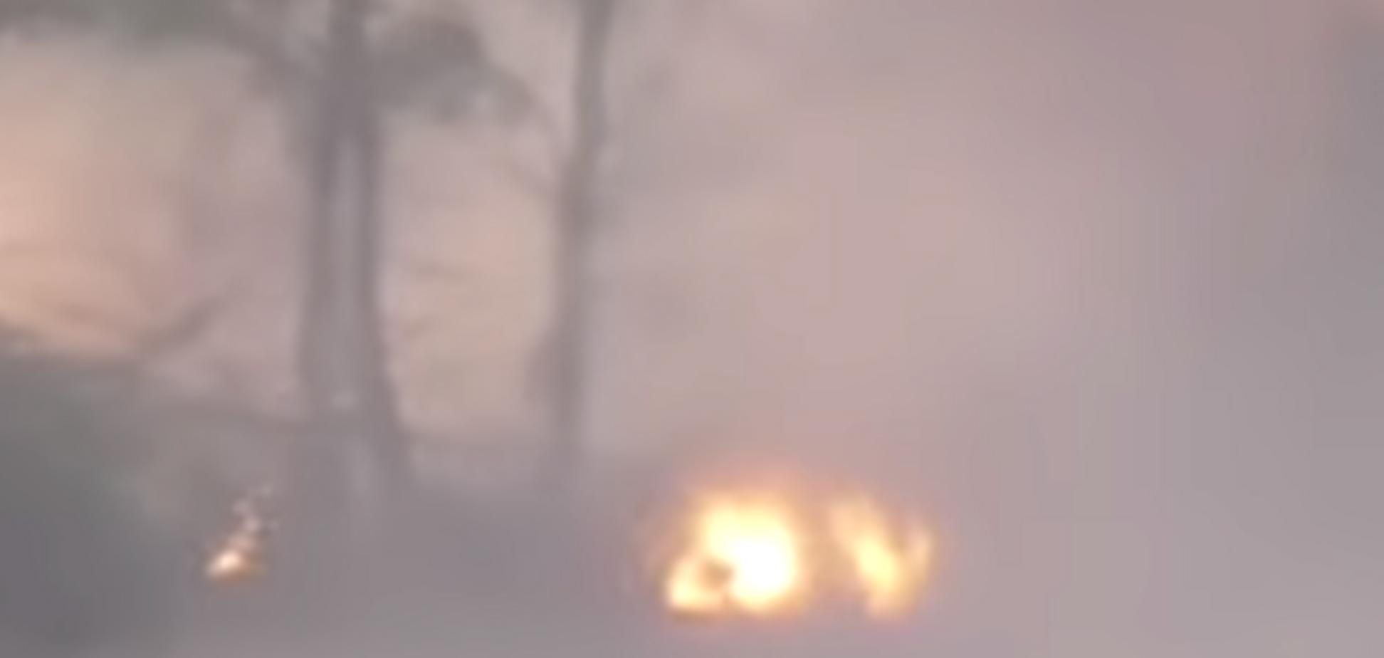 ''Карающий Молот'': пропагандисты Путина показали фейковый ''взрыв миномета'' в Украине