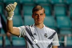 Український воротар 'Реала' Лунін: прихід Куртуа не злякав мене