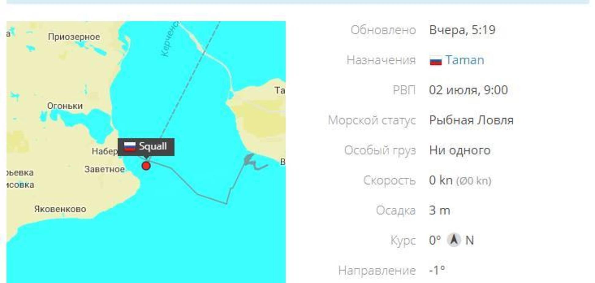 Зазнало аварію судно, що доставило в окупований Крим турбіни SIEMENS
