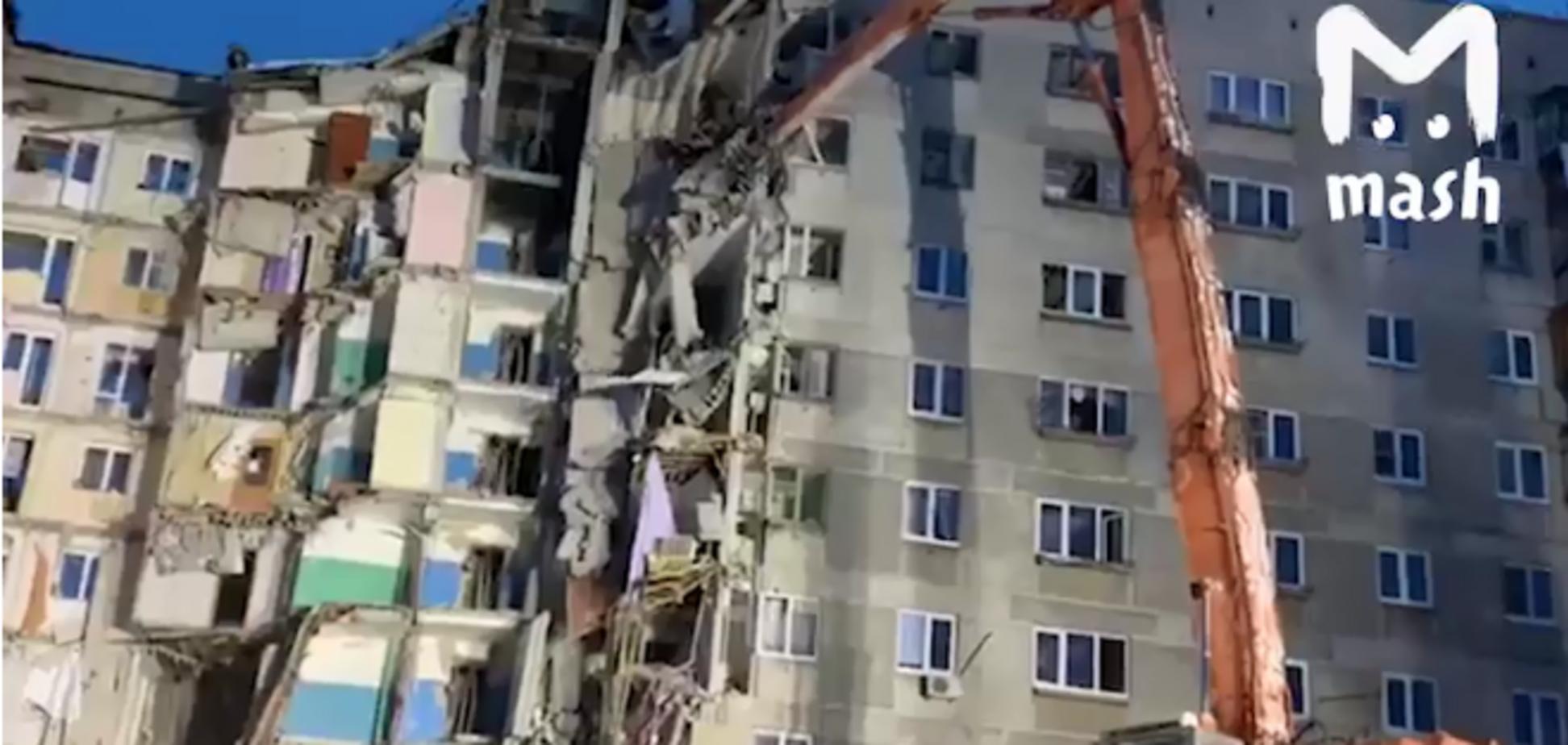Смертельный взрыв в Магнитогорске: жуткий снос подъезда попал на видео