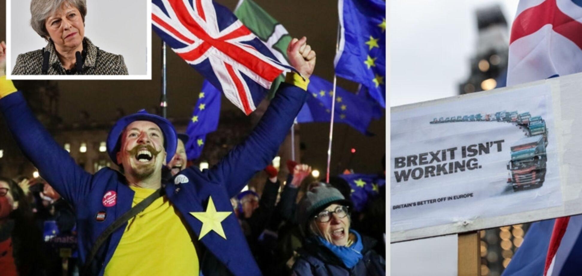Британский парламент проголосовал против соглашения с ЕС по Brexit