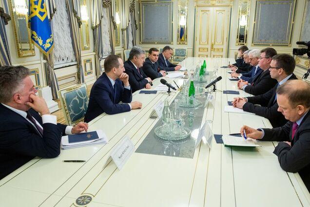 Встреча глав МИД и президента Украины