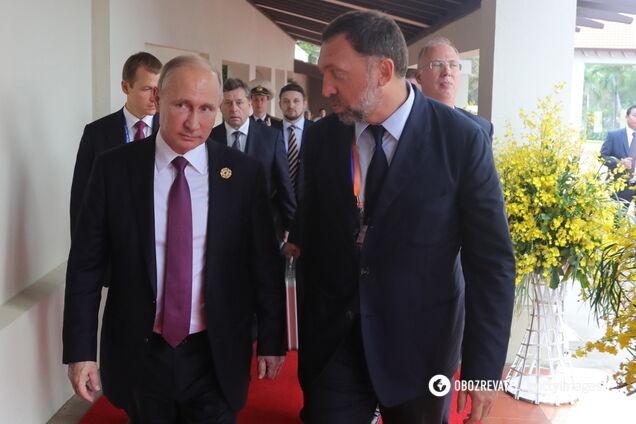 Володимир Путін і Олег Дерипаска