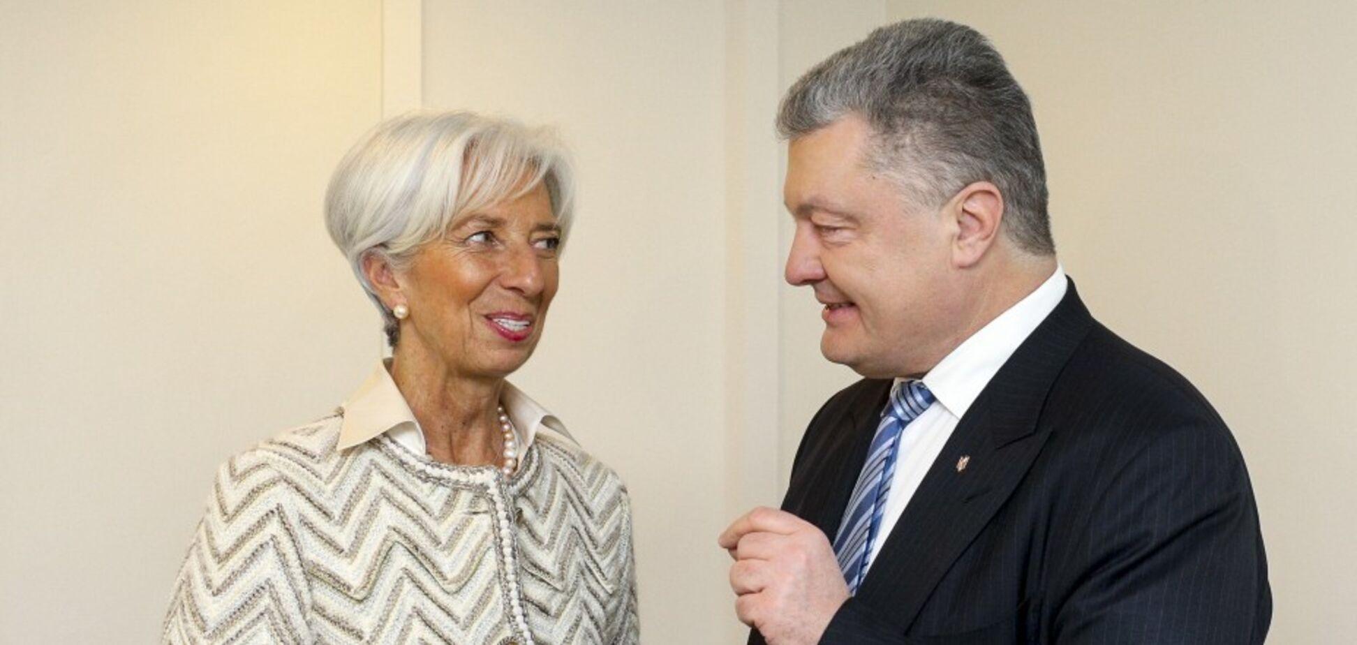 Порошенко встретился с главой МВФ: о чем говорили