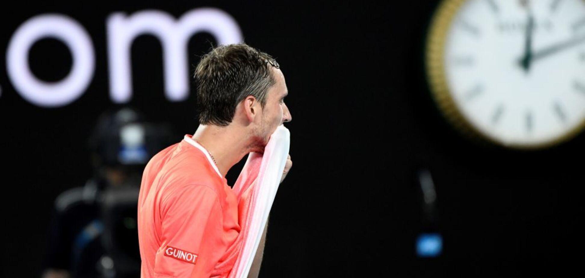 Російський тенісист влаштував ''дебош'' на Australian Open — опубліковане відео