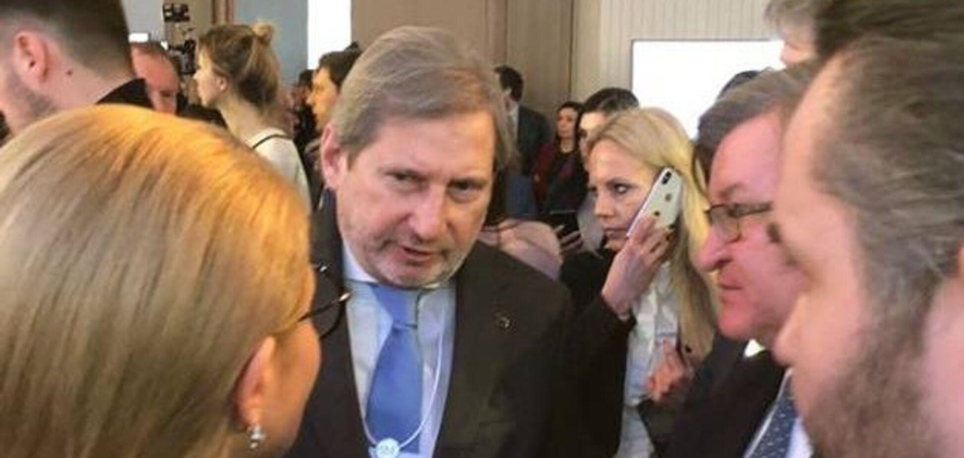 Тимошенко встретилась с еврокомиссаром Ханом