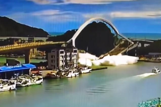 На Тайвані на людей впав найбільший міст