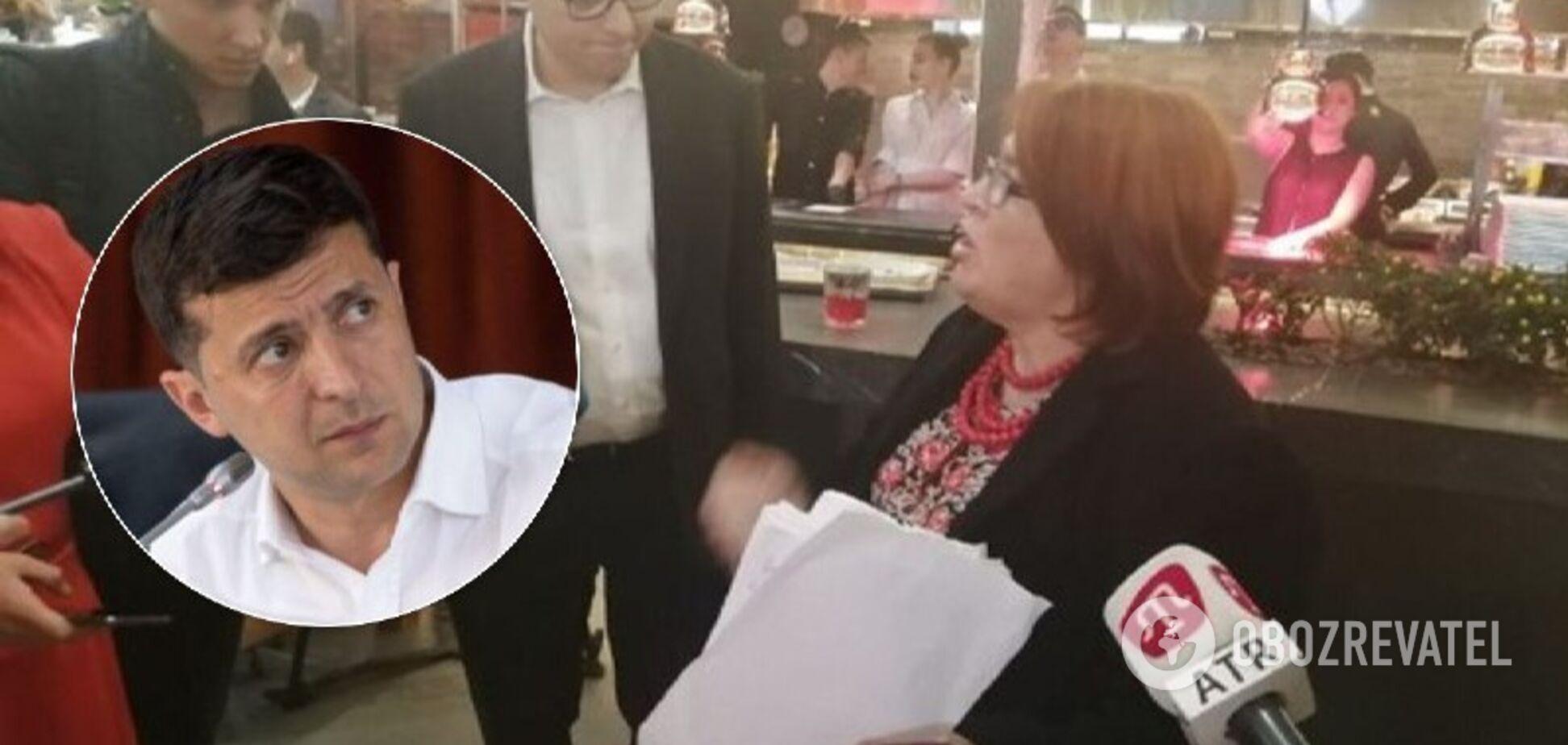 Вдова атошника устроила переполох на марафоне Зеленского. Видео