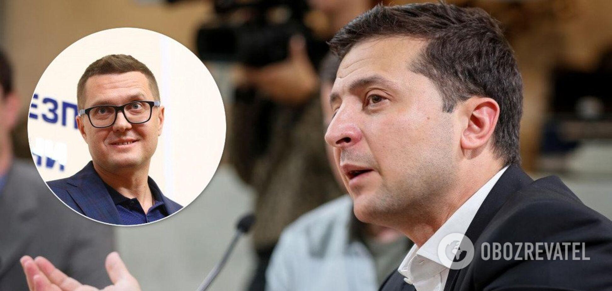 Зеленский пригрозив Баканову звільненням