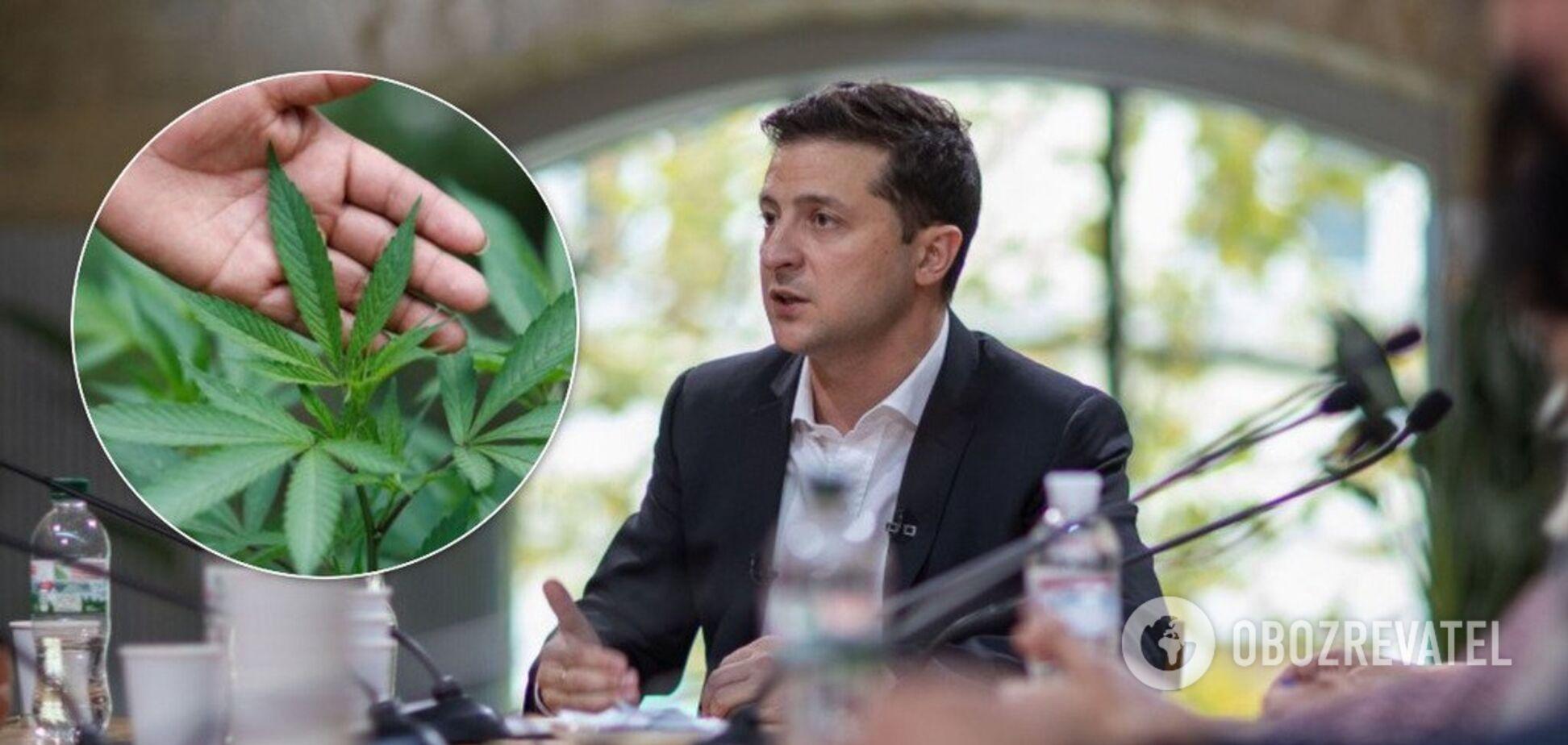 Зеленський виступив проти легалізації марихуани