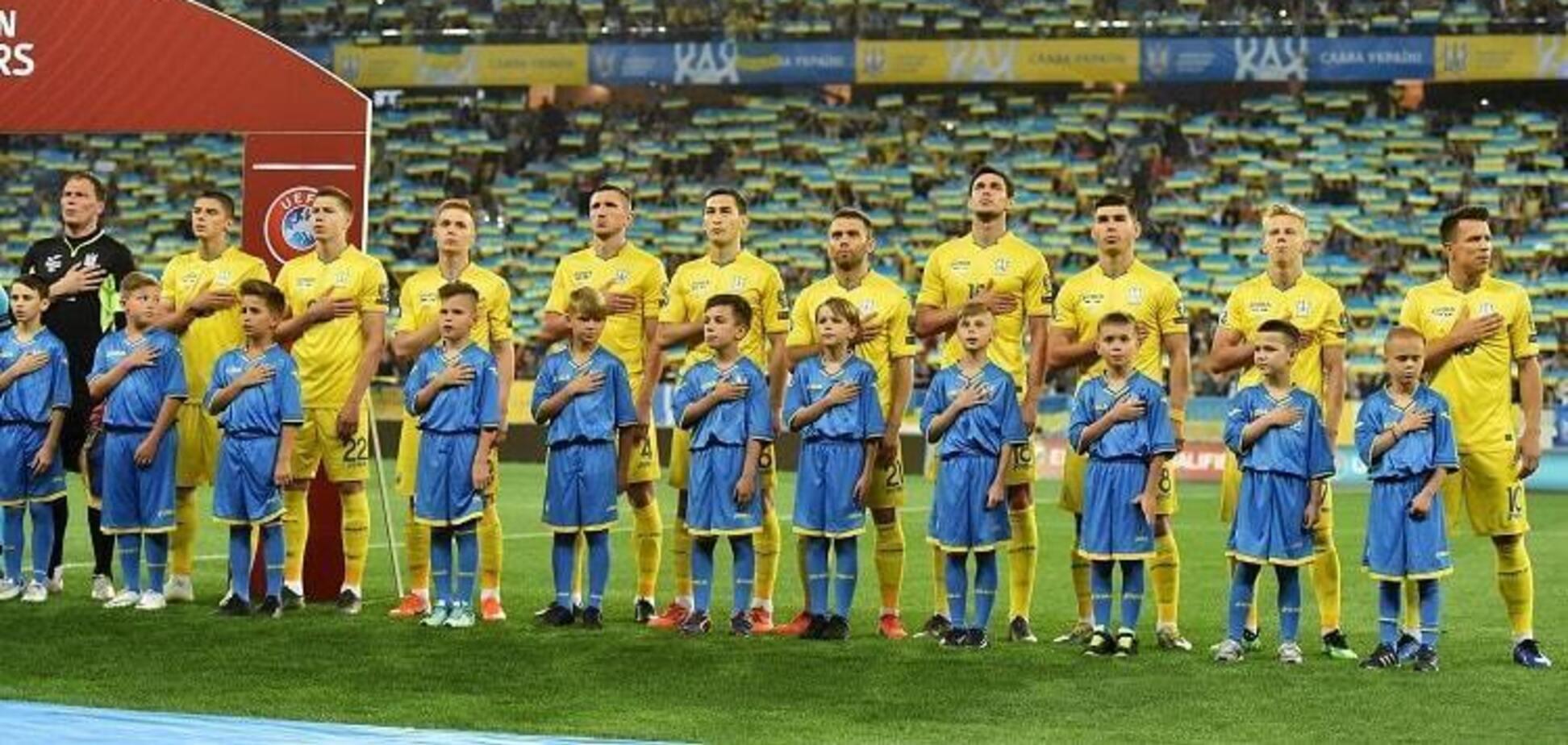 Стадион в Харькове фантастически исполнил гимн Украины перед матчем отбора Евро-2020