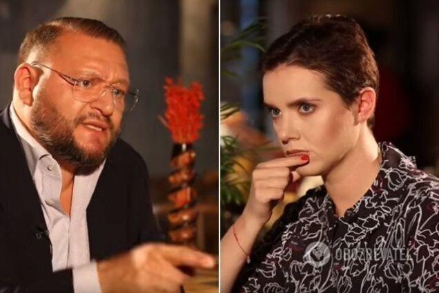 Михаил Добкин и Янина Соколова на интервью