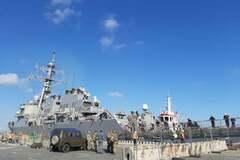 <strong>Есмінець США дістався</strong> Одеси: перші фото судна з ракетами