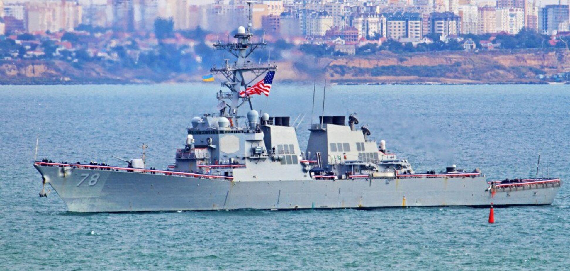 Есмінець США увірвався в Чорне море для військової операції. Фото
