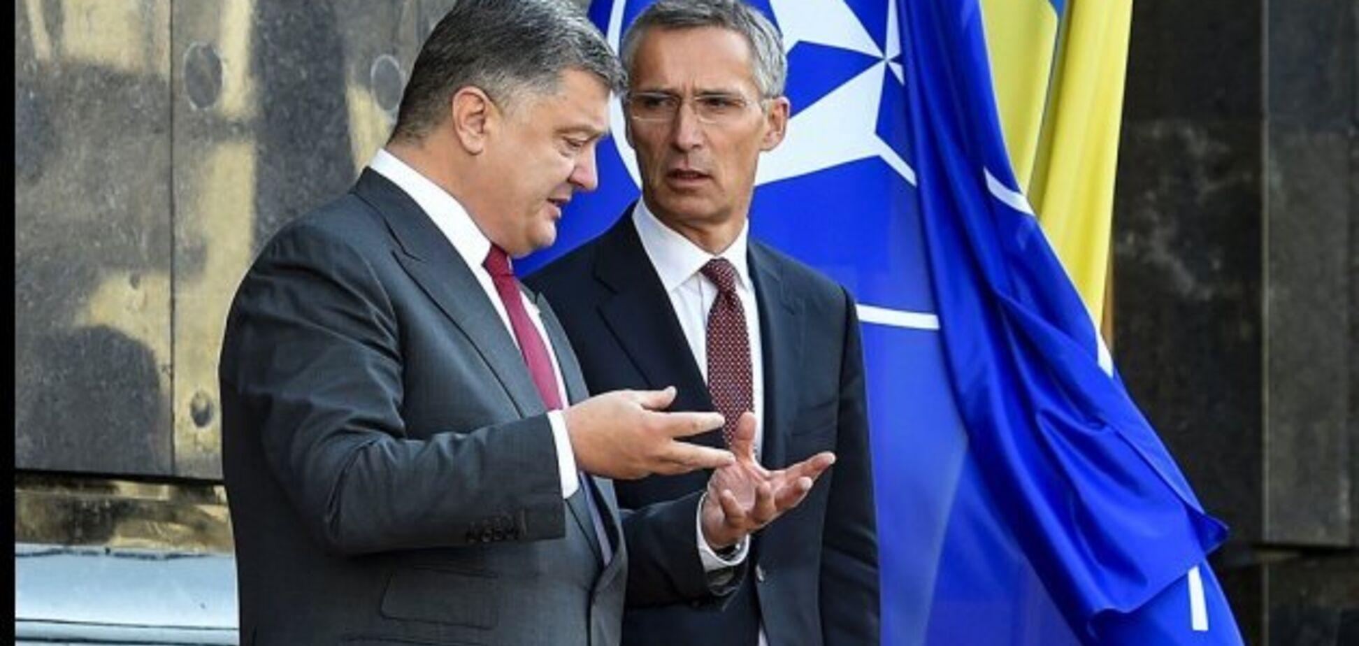 Генсек НАТО Столтенберг отметил реформы Порошенко для членства Украины в Альянсе