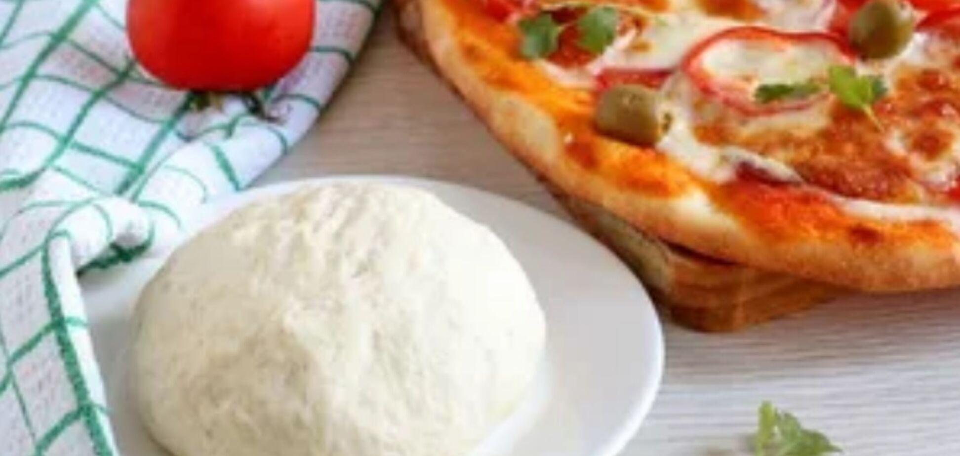 Рецепт смачного тіста для піци на молоці
