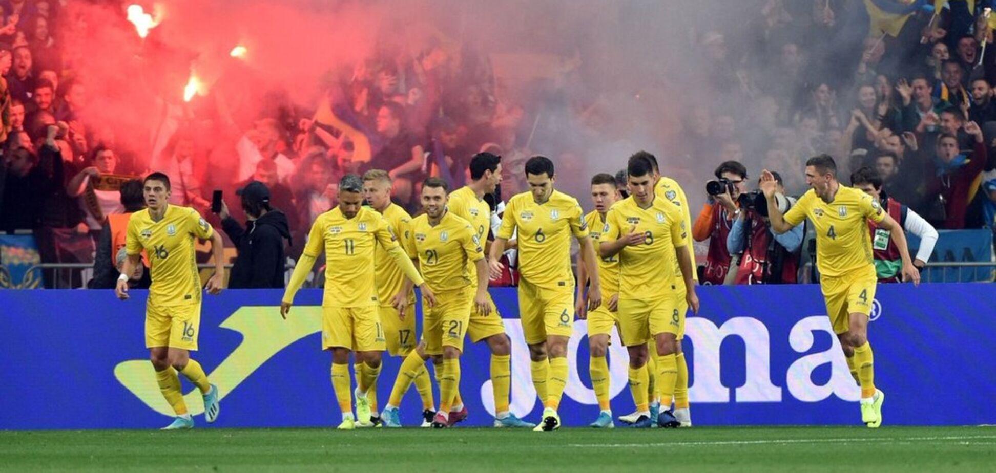 Сборная Украины устроила феерическое празднование с фанатами на переполненном 'Олимпийском'