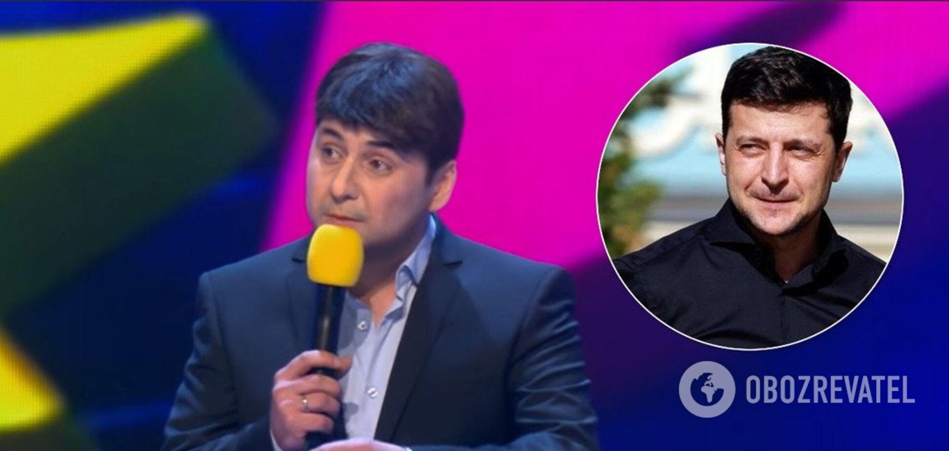 'Мне удобнее на русском': в КВН показали первую пародию на Зеленского