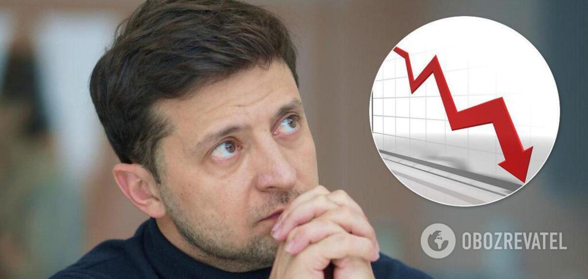 Минус 7%: почему украинцы перестают верить Зеленскому и что будет дальше