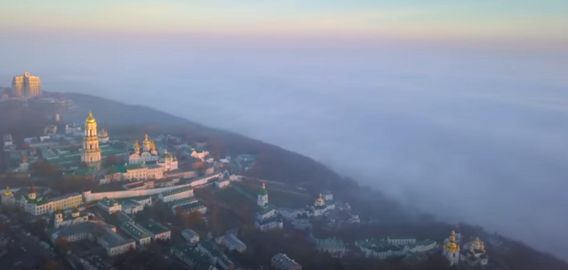 У мережі з'явилося відео Києва з висоти пташиного польоту