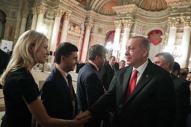Поклонська на зустрічі з Ердоганом