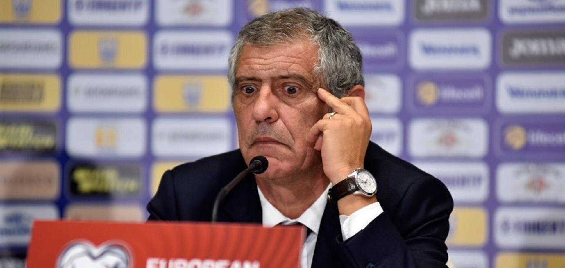 Тренер збірної Португалії знайшов безглузду відмазку після поразки від України