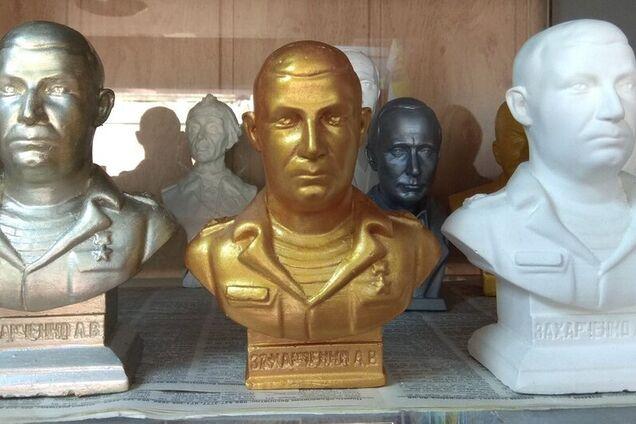 Подгрудный бюст убитого главаря террористов Захарченко