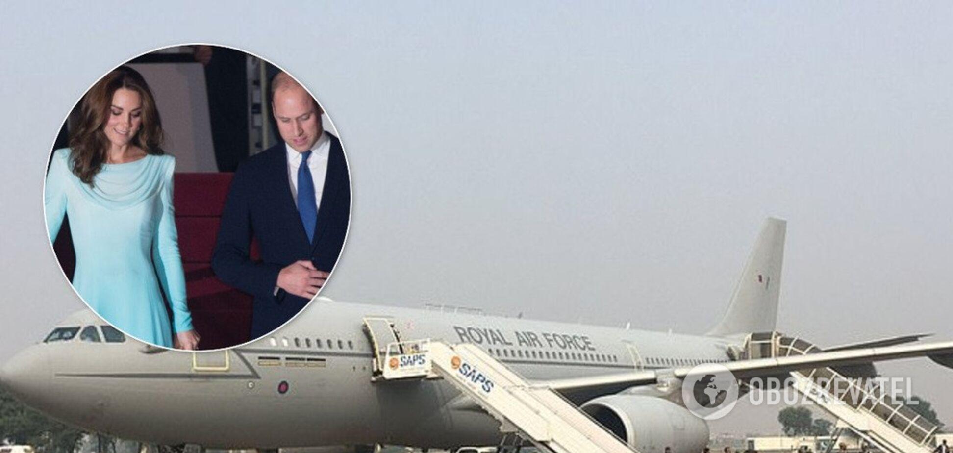Літак із Кейт Міддлтон і принцом Вільямом потрапив у НП