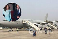 Самолет с Кейт Миддлтон и принцем Уильямом попал в ЧП