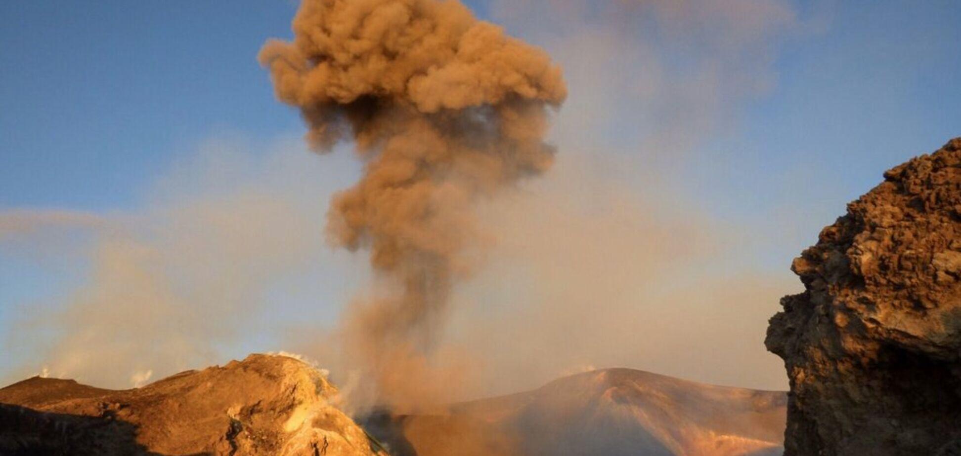 В Италии разбушевался вулкан Этна