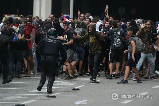 14 октября, Барселону охватили массовые протесты