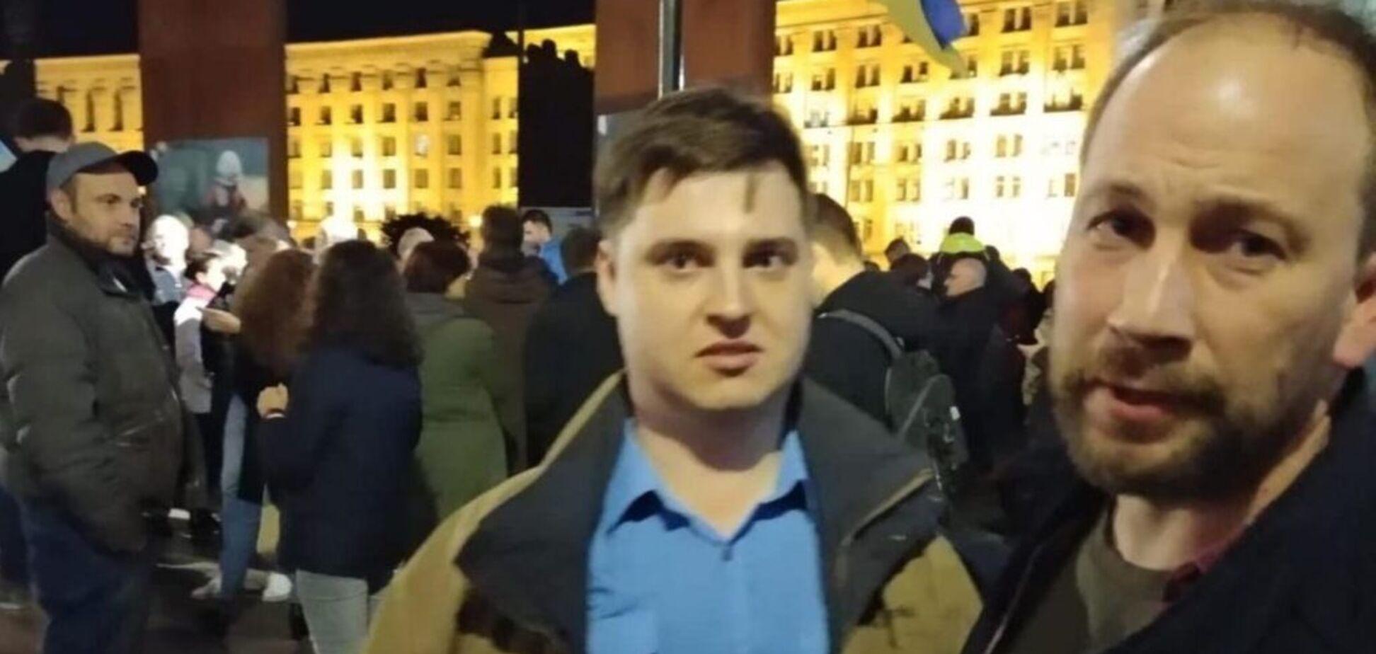 'Каюся!' На Майдані затримали блогера, який образив Гандзюк. Відео вибачень