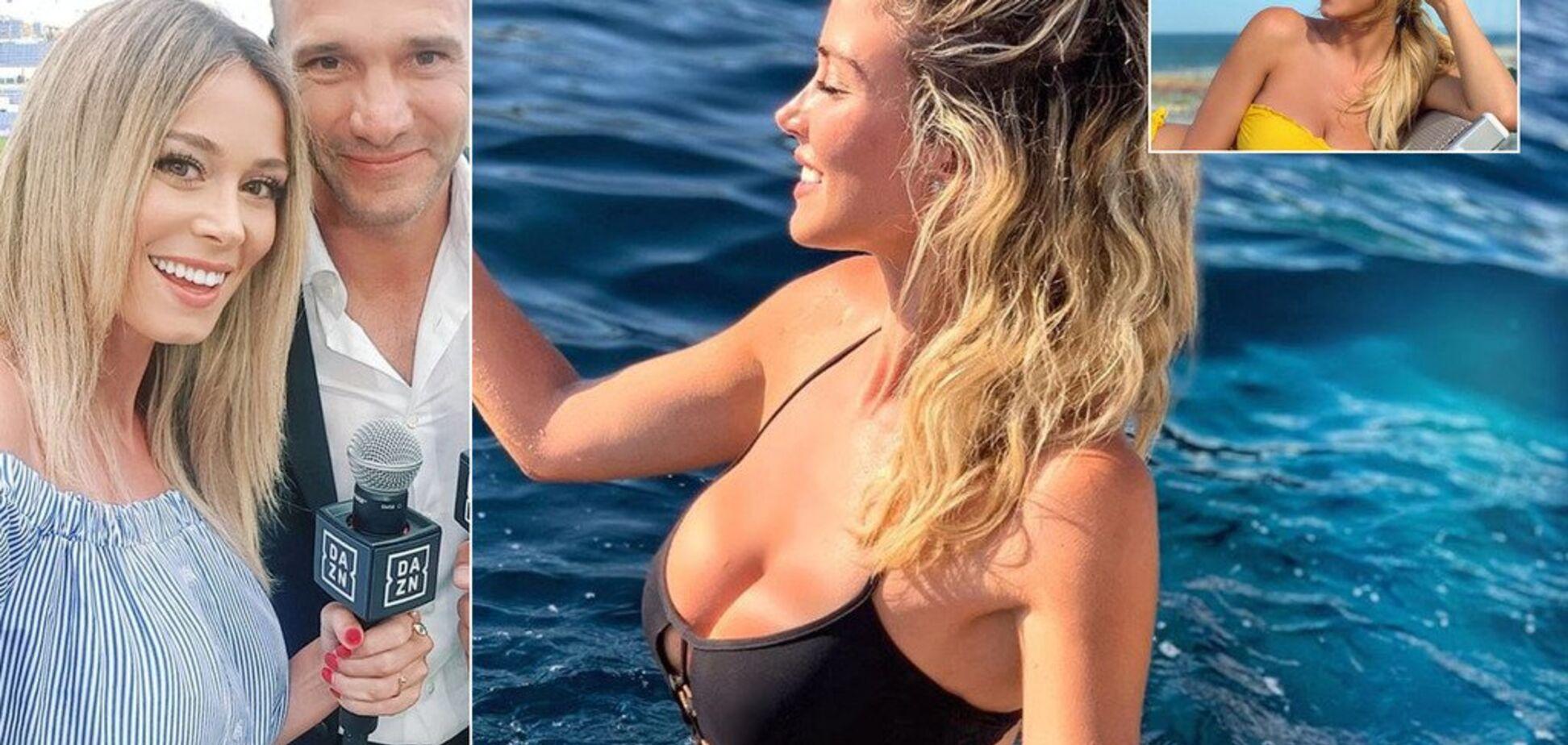 Фанаты потребовали от соблазнительной помощници Шевченко показать голую грудь