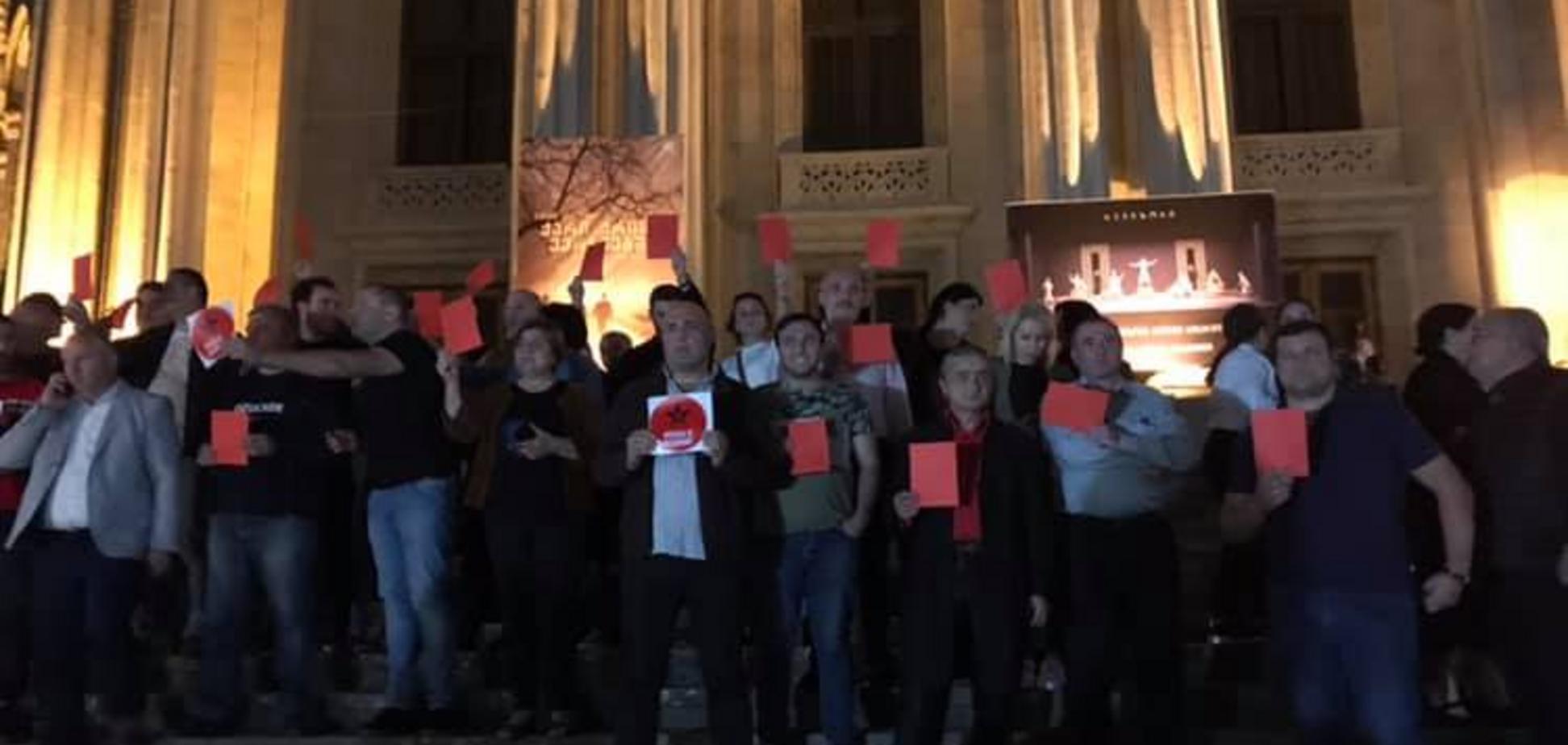 'Окупанти!' Російським акторам влаштували 'теплий' прийом у Грузії