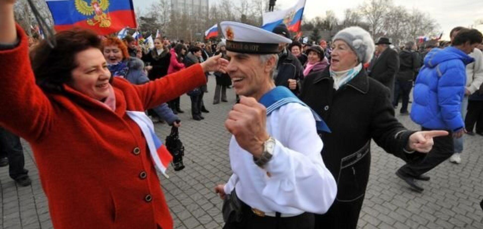 'Мы хотим в Россию!' У фанатов Путина в Луганске произошло обострение: фото и видео