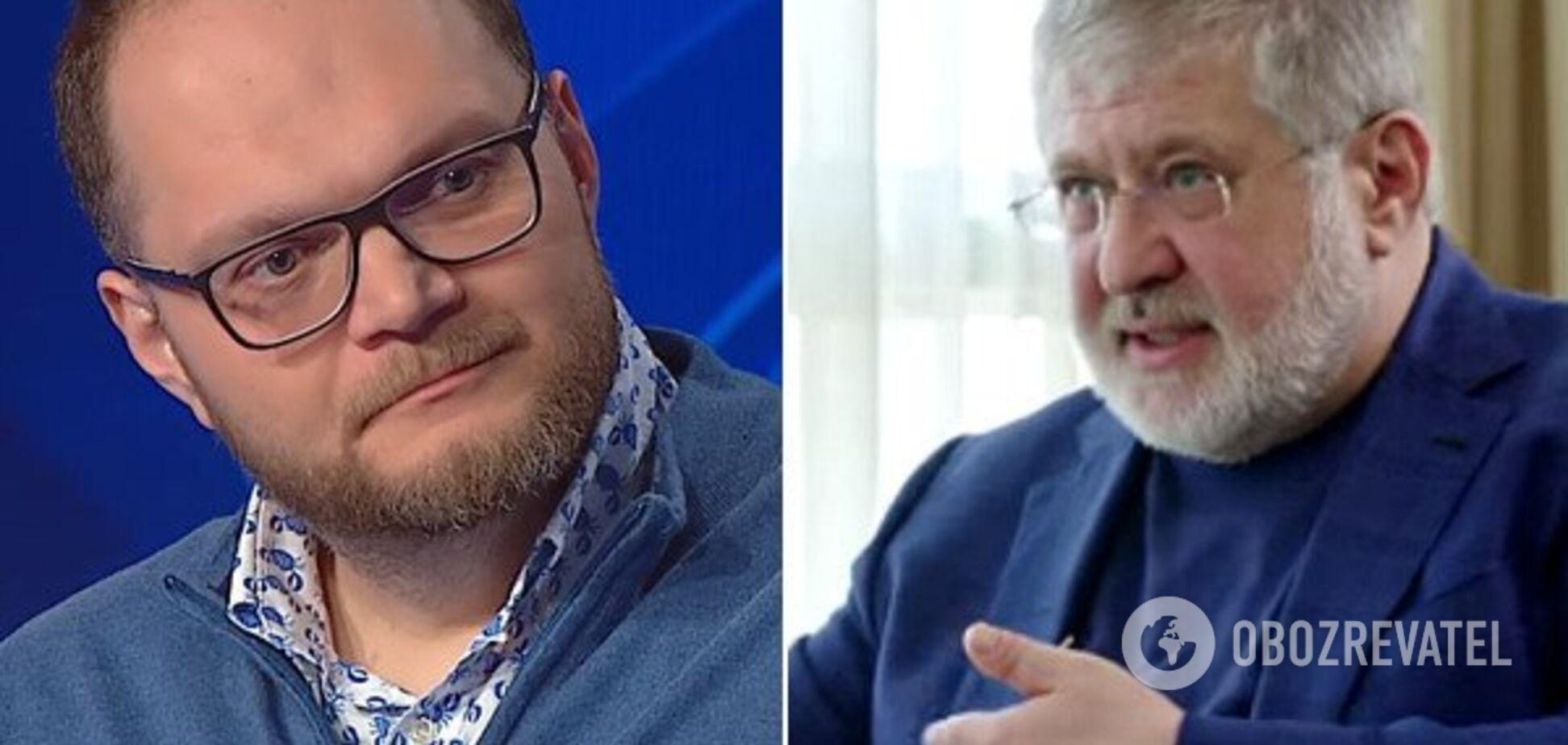 'Он не дебил, а подонок!' Коломойский 'наехал' на министра культуры из-за 'Квартала 95'