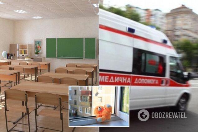В Киеве девочка выпрыгнула из окна школы. Иллюстрация