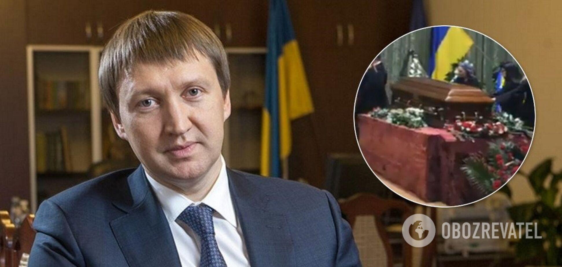 У Києві попрощалися із загиблим в авіакатастрофі ексміністром. Фото і відео