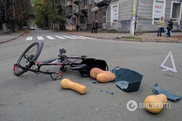 В Каменском автомобиль сбил велосипедиста