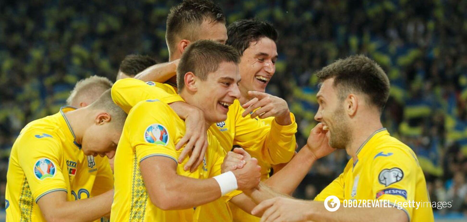 Сборная Украины совершила рывок в рейтинге ФИФА