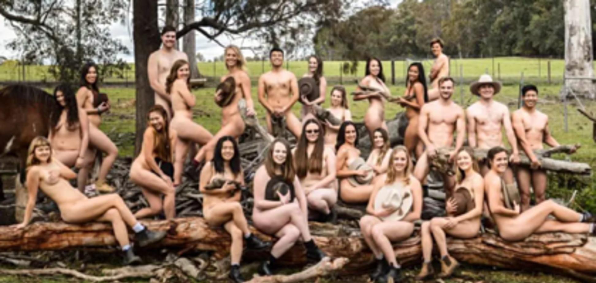 Прикрывались животными: голая фотосессия студентов попала в сеть. Фото 18+