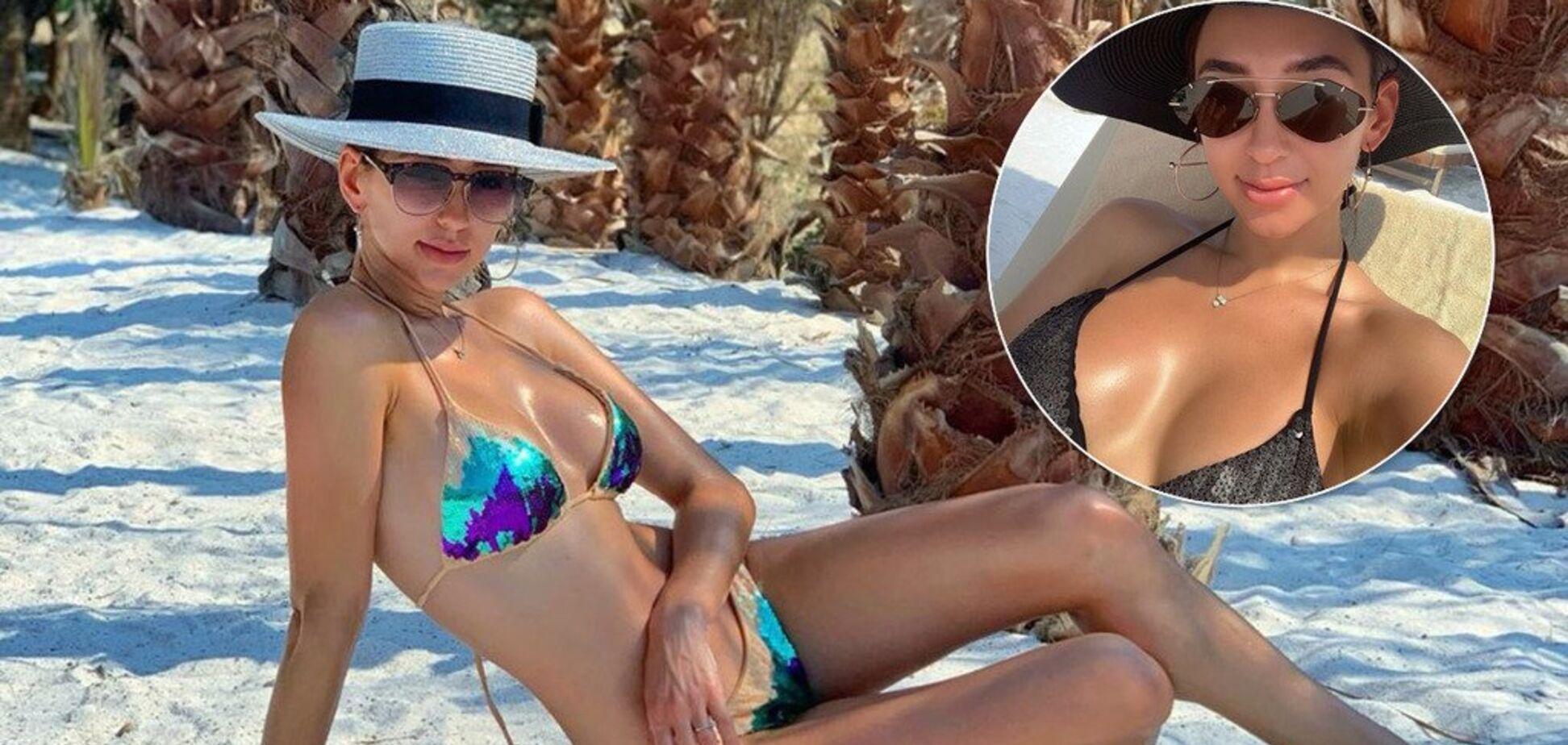 Жена Степаненко разделась на пляже и произвела фурор своей внешностью