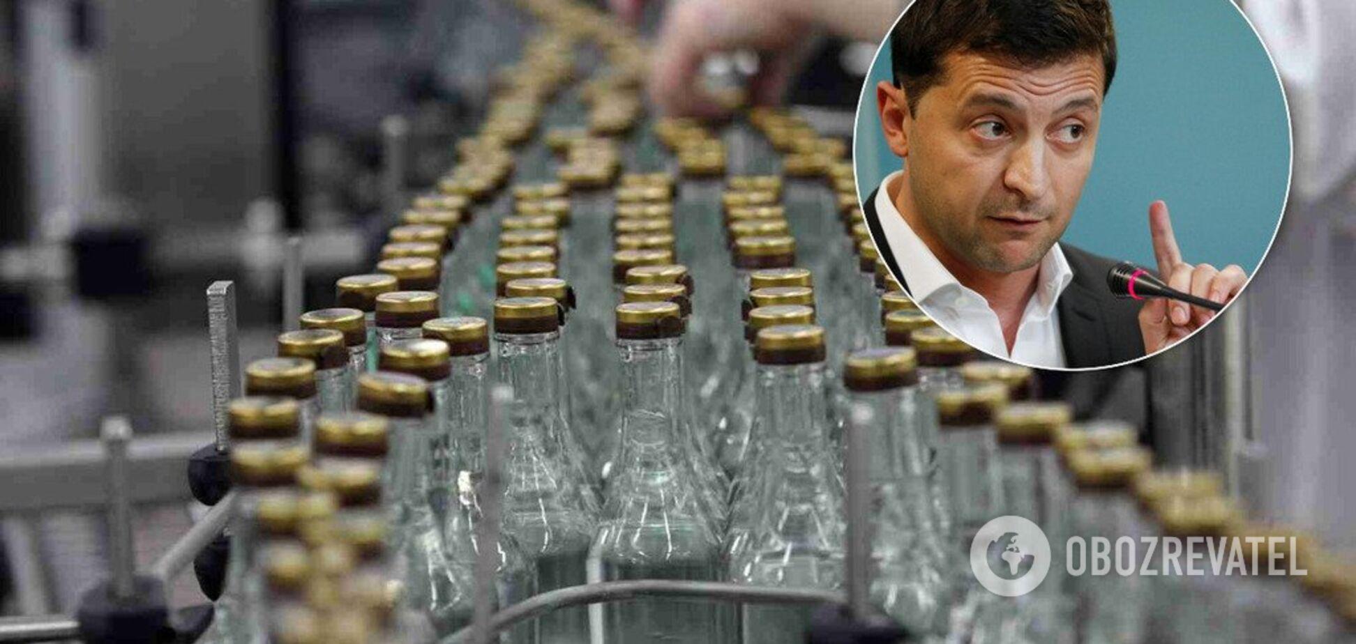 Зеленский собрался 'отобрать' у Украины спирт: озвучена цена вопроса