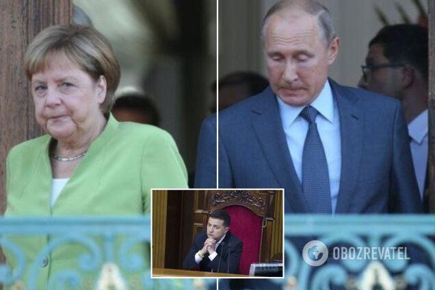 Меркель обсудила с Путиным транзит газа через Украину и обмен пленными на Донбассе