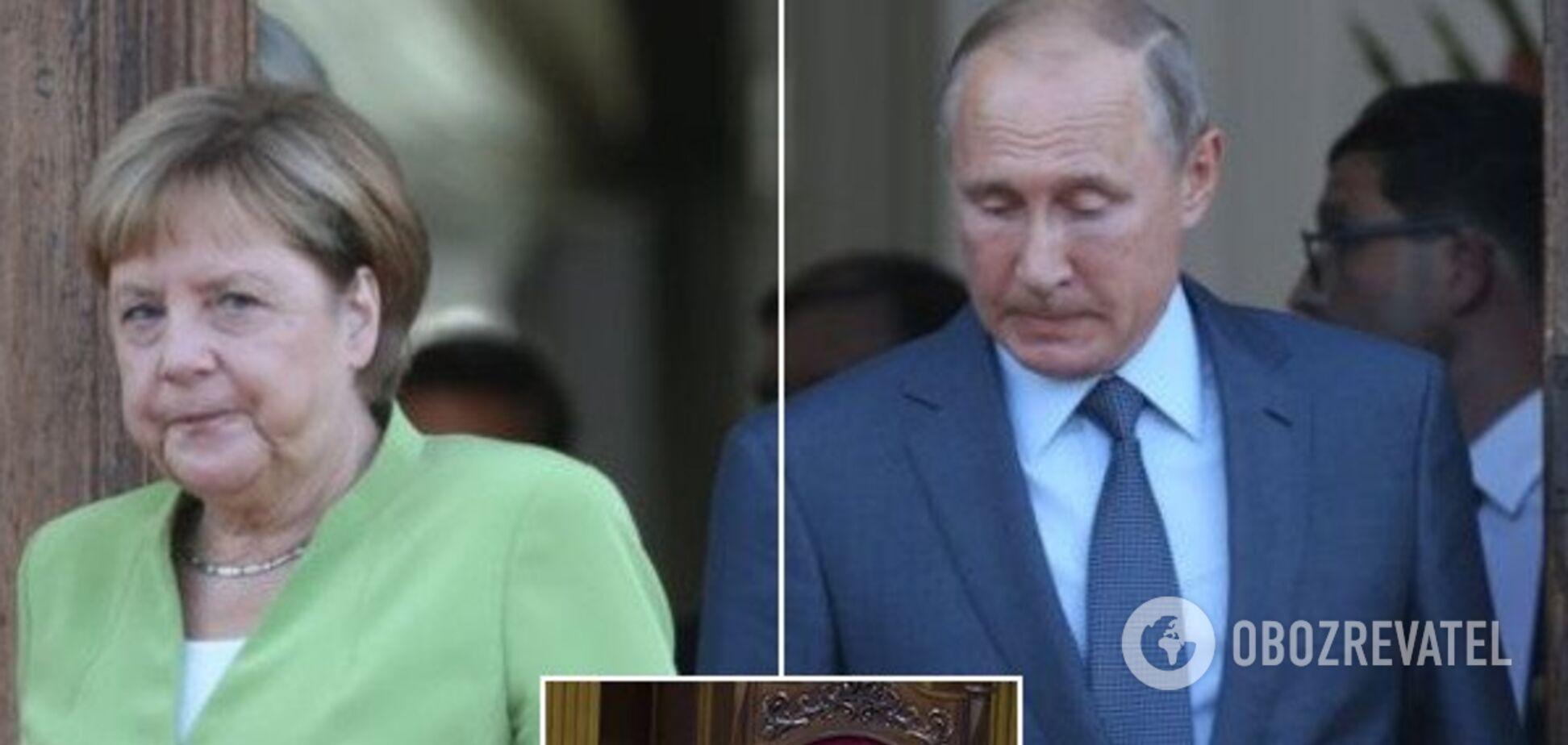 Без Зеленського: Меркель і Путін обговорили транзит газу через Україну
