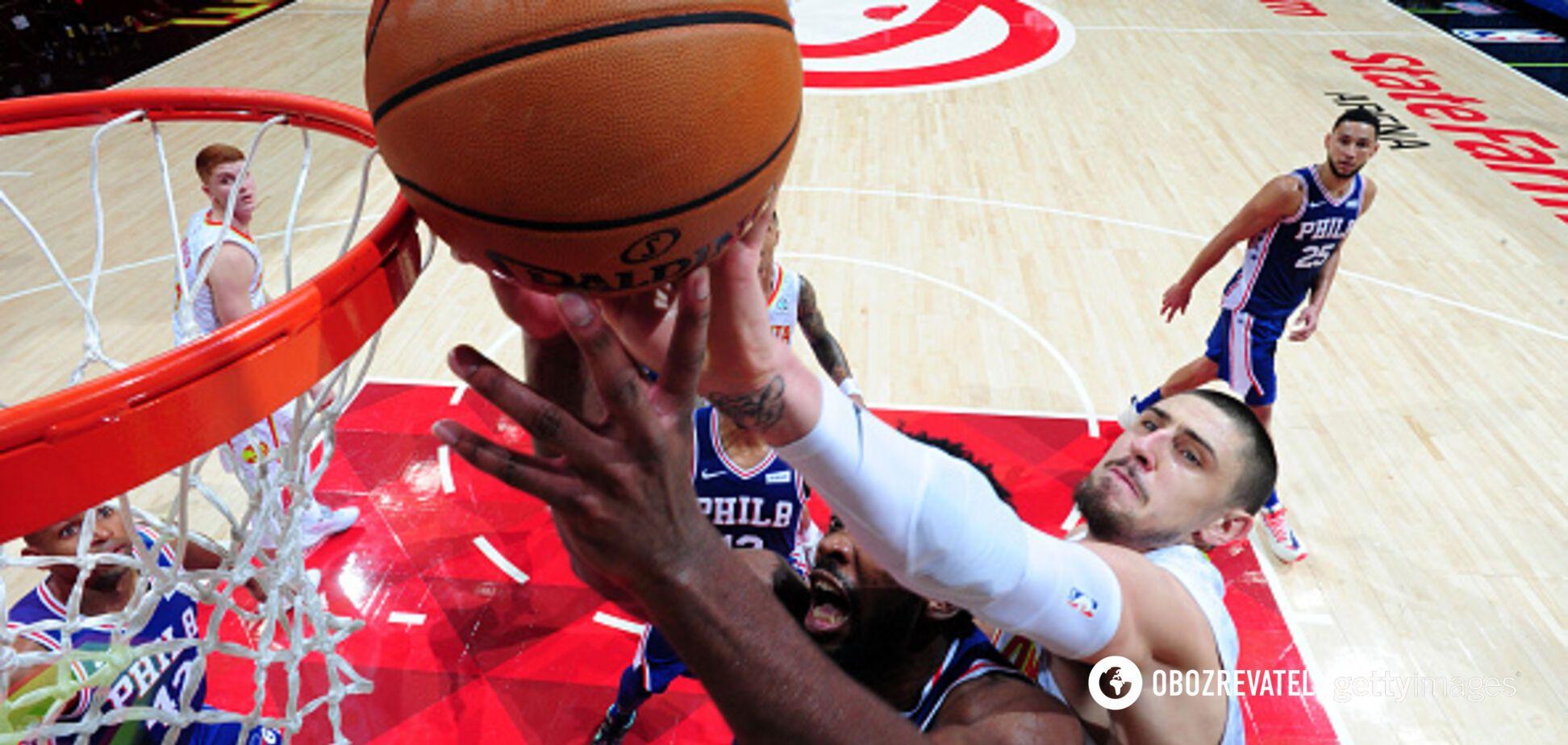 Украинец Лэнь отметился шикарным данком за 'Атланту' в матче НБА