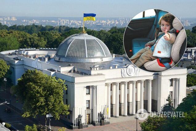 В Украине введут штрафы за перевозку детей без автокресел
