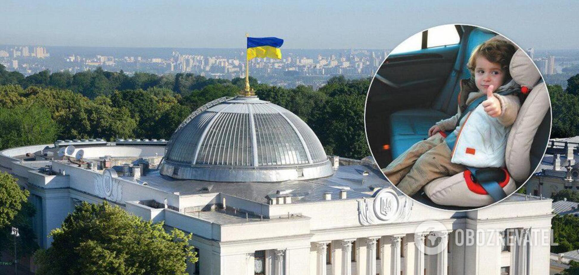 В Україні введуть штрафи за перевезення дітей без автокрісел: всі деталі